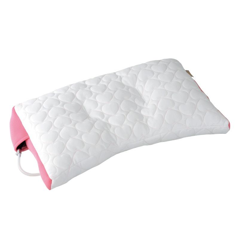 หมอน Air pump pillow สีชมพู