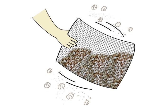 วิธีการทำความสะอาดหมอนไม้ฮิโนกิ เขย่าไส้หมอนเพื่อไล่ฝุ่นไม้ ปีละ 1 ครั้ง
