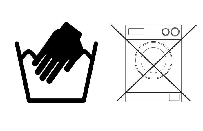 ซักทำความสะอาดด้วยมือ ห้ามซักเครื่องซักผ้า
