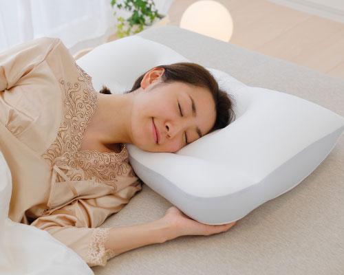 ผู้หญิงนอนหมอน Super king pillow นอนตะแคง