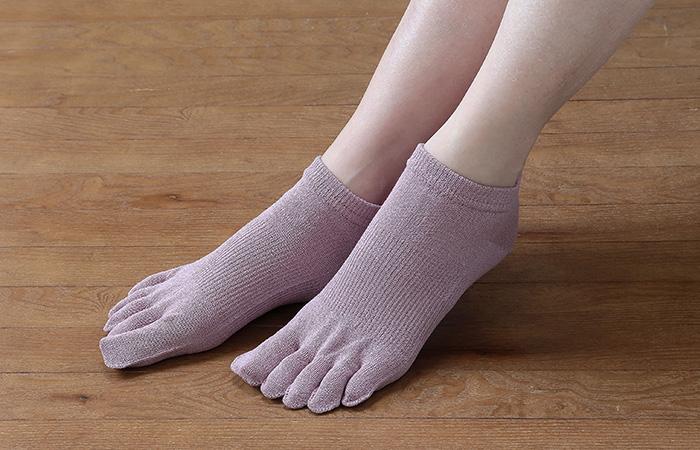 ถุงเท้ากระดาษ Washi Five Fingers Socks แบบสั้น