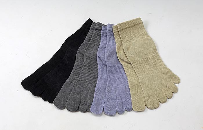 ถุงเท้ากระดาษ Washi Five Fingers Socks แบบยาว มีให้เลือกหลายสี