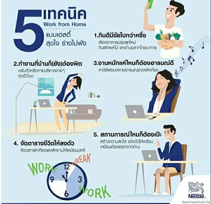 5 เทคนิค work from home
